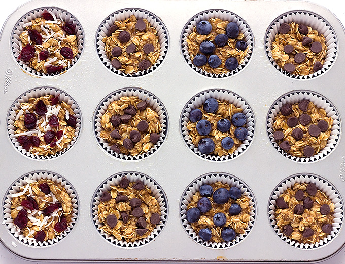 Customizable Baked Oatmeal Muffins recipe